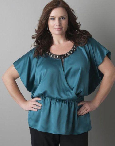 blusas femininas plus size 490x622 Modelos de blusas : Regatinhas, modelos justinhos e muito mais