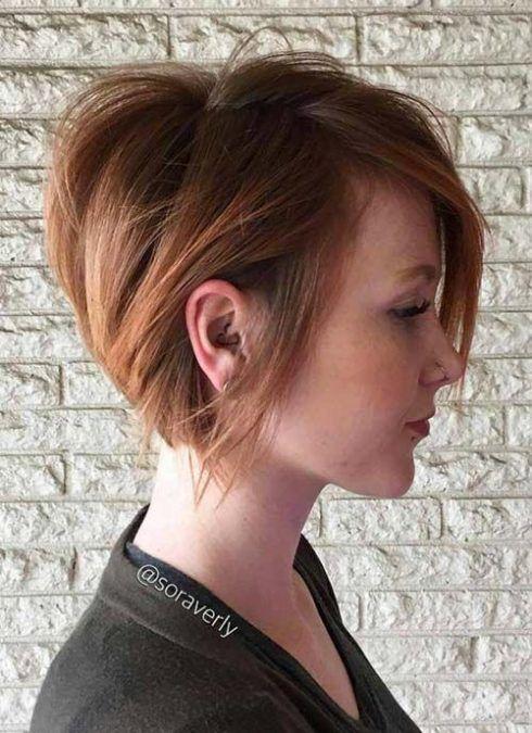 cabelo curtos desfiados para senhoras 490x675 Cortes de cabelo curto para senhoras em fotos comentadas