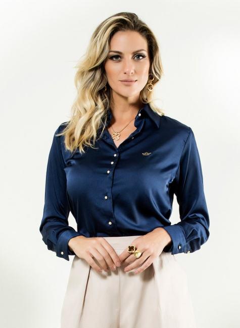 camisa feminina cetim marinho Modelos de blusas : Regatinhas, modelos justinhos e muito mais