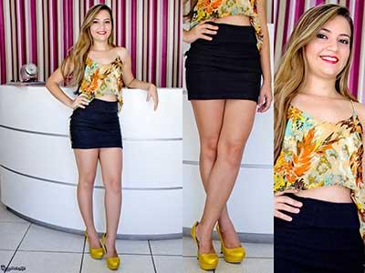 imagem 34 1 Cropped com saia curta veja como usar esse look