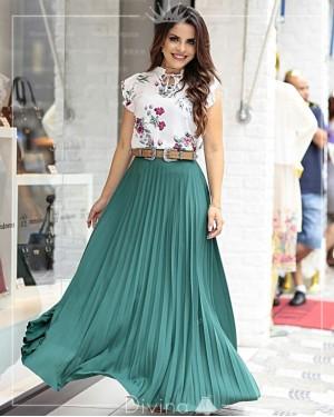 imagem 51 Saias rodadas evangélicas moda para mulheres cristãs