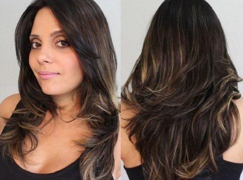 mechas para cabelos escuros tons mel 490x363 MECHAS PARA CABELOS ESCUROS: Inspire-se nos looks moderninhos