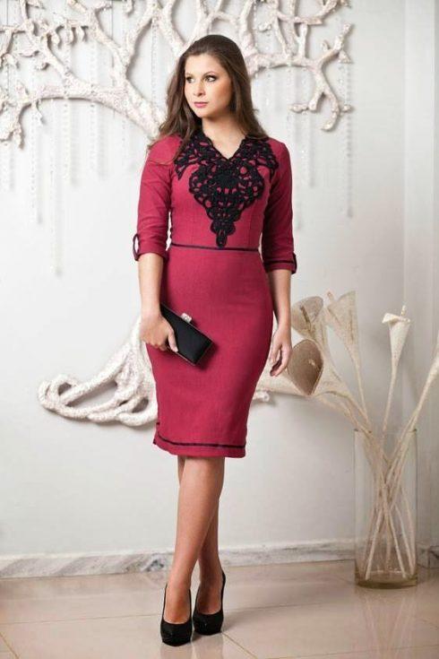 Vestidos vermelhos moda evangelica