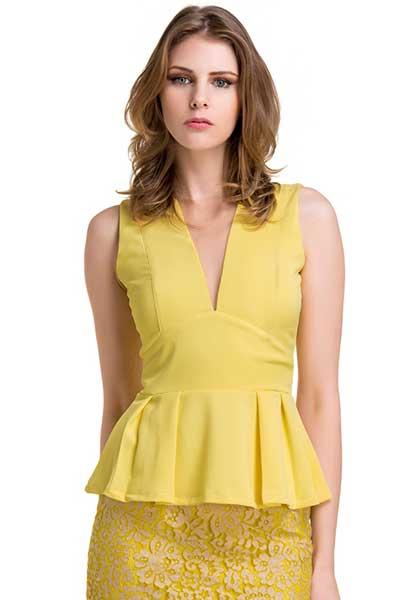 modelo de blusa feminina peplum Modelos de blusas : Regatinhas, modelos justinhos e muito mais