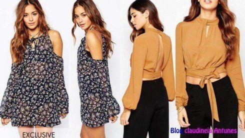 modelos de blusas ombro vazado 490x276 Modelos de blusas : Regatinhas, modelos justinhos e muito mais