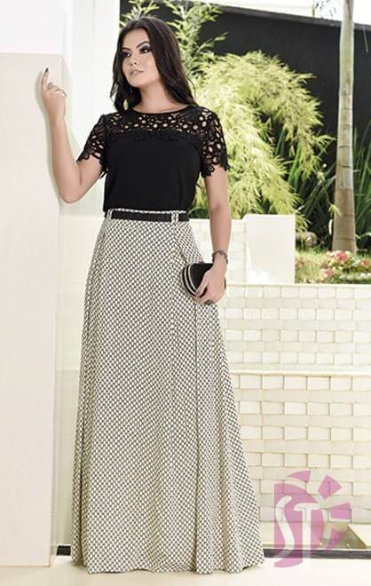 saias longas evangelicas look Saias rodadas evangélicas moda para mulheres cristãs