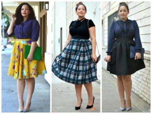 saias rodadas para gordinhas 1 490x368 Saias rodadas evangélicas moda para mulheres cristãs