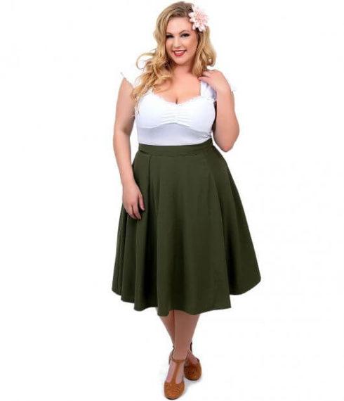 saias rodadas para gordinhas 4 490x570 Saias rodadas evangélicas moda para mulheres cristãs
