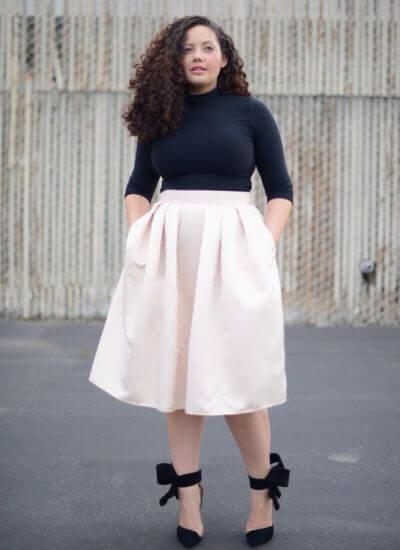 saias rodadas para gordinhas 5 Saias rodadas evangélicas moda para mulheres cristãs