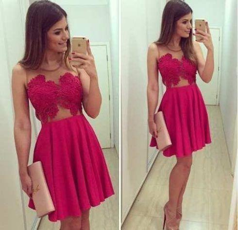 vestido acinturado e rodado pink 490x473 Vestido acinturado rodado Modelos para você ficar incrível