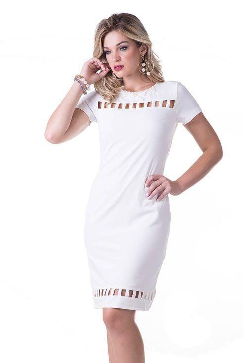 vestidos branco para evangelicas 490x733 Vestidos evangélicos modelos tubinho e muito mais