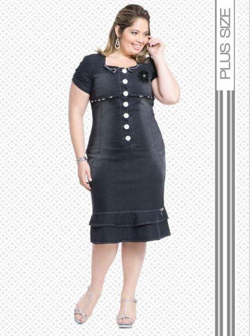 vestidos evangelicos para gordinhas 490x657 Vestidos evangélicos modelos tubinho e muito mais