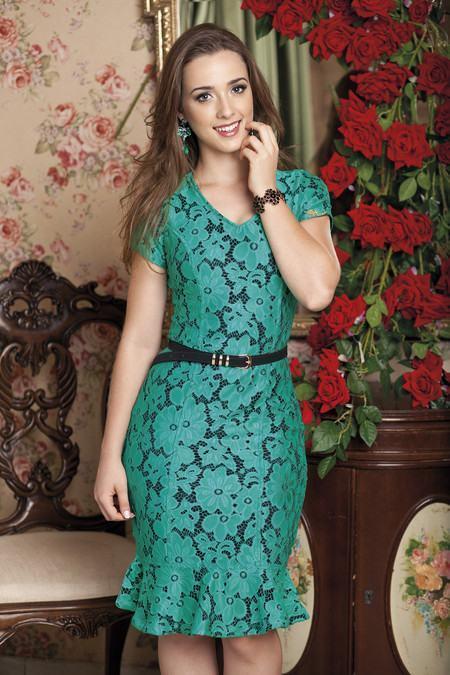 vestidos florais evang%C3%A9licos Vestidos evangélicos modelos tubinho e muito mais