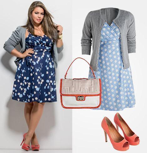 vestidos plus size acinturado rodado Vestido acinturado rodado Modelos para você ficar incrível