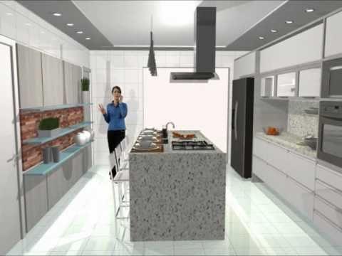imagem 23 COZINHA COM ILHA NO MEIO : 30 ideias para ter a cozinha perfeita