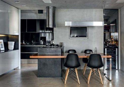 imagem 27 490x343 COZINHA COM ILHA NO MEIO : 30 ideias para ter a cozinha perfeita