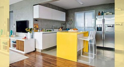 imagem 29 490x265 COZINHA COM ILHA NO MEIO : 30 ideias para ter a cozinha perfeita