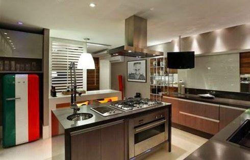 imagem 35 490x313 COZINHA COM ILHA NO MEIO : 30 ideias para ter a cozinha perfeita