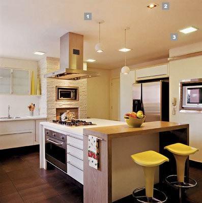 imagem 37 COZINHA COM ILHA NO MEIO : 30 ideias para ter a cozinha perfeita