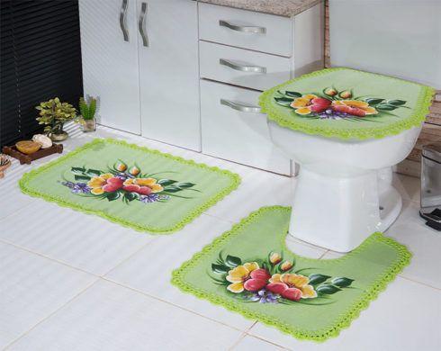 imagem 9 490x390 JOGO DE TAPETE PARA banheiro, enxoval de casamento