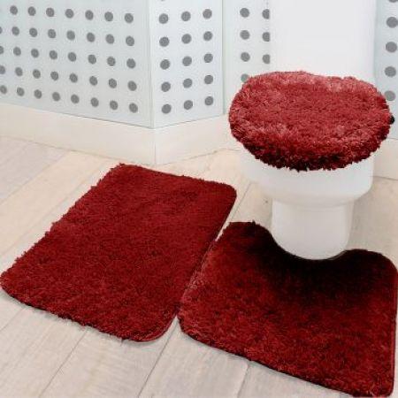 jogo de tapete para banheiro 3 JOGO DE TAPETE PARA banheiro, enxoval de casamento