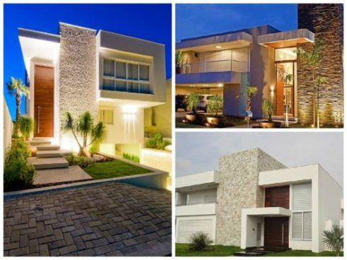 Fachadas de casas modernas e sobrados lindos wiki mulher for Modelos de fachadas modernas para casas