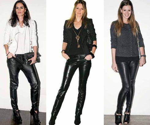 calcas de couro femininas 1 490x408 Como Usar CALÇA DE COURO em diversos looks