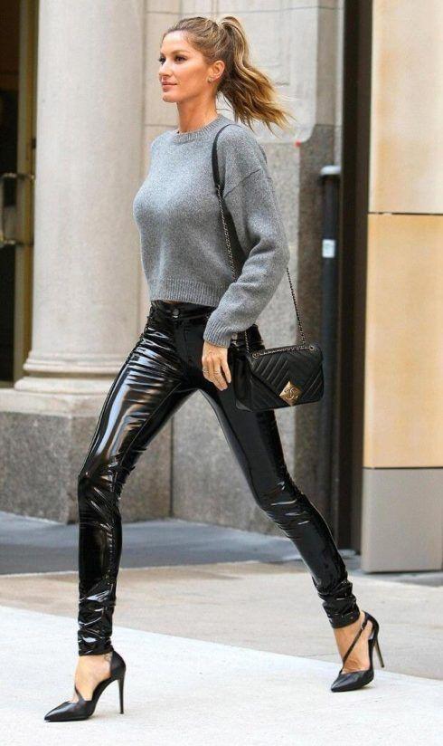 calcas de couro femininas 12 490x824 Como Usar CALÇA DE COURO em diversos looks