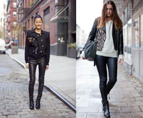 calcas de couro femininas 2 490x403 Como Usar CALÇA DE COURO em diversos looks
