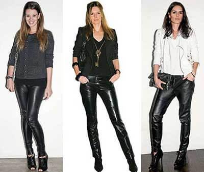 calcas de couro femininas 5 Como Usar CALÇA DE COURO em diversos looks