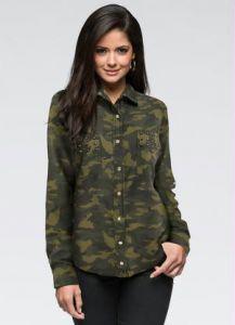 camisa camuflada feminina 3 Blusinha e camisa CAMUFLADA feminina siga a tendência