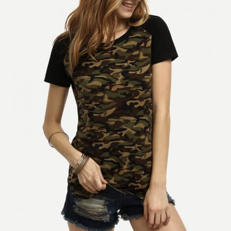 camisa camuflada feminina 4 Blusinha e camisa CAMUFLADA feminina siga a tendência