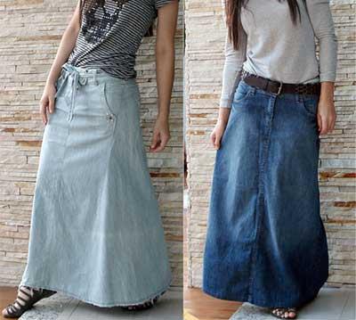 como usar saia longa jeans SAIAS longas da Moda : Conheça os modelos atuais