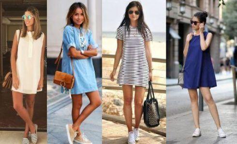 estilo casual feminino 2 490x297 Moda Estilo CASUAL Feminino com Calça, vestido, shorts, saia e calçados