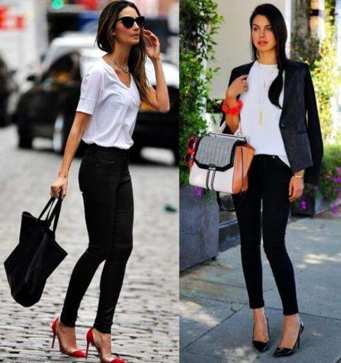 estilo casual feminino 4 490x522 Moda Estilo CASUAL Feminino com Calça, vestido, shorts, saia e calçados