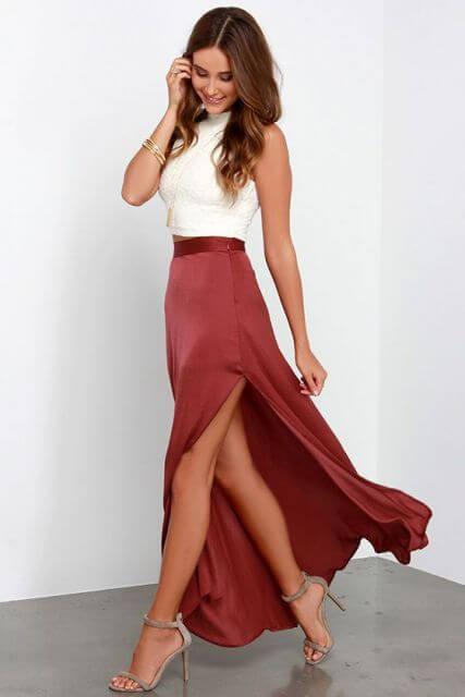 saia longa com fenda 2 SAIAS longas da Moda : Conheça os modelos atuais