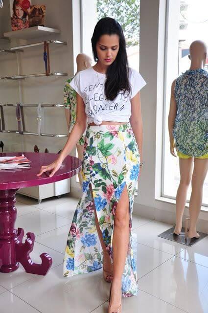 saia longa com fenda 5 SAIAS longas da Moda : Conheça os modelos atuais