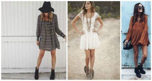 vestido com bota 1 490x262 Como usar Vestido com BOTA: cano curto ou longo