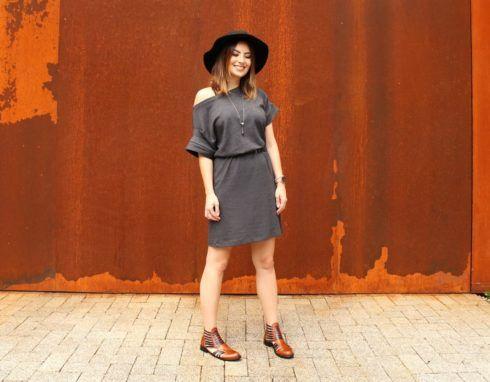 vestido com bota 11 490x382 Como usar Vestido com BOTA: cano curto ou longo