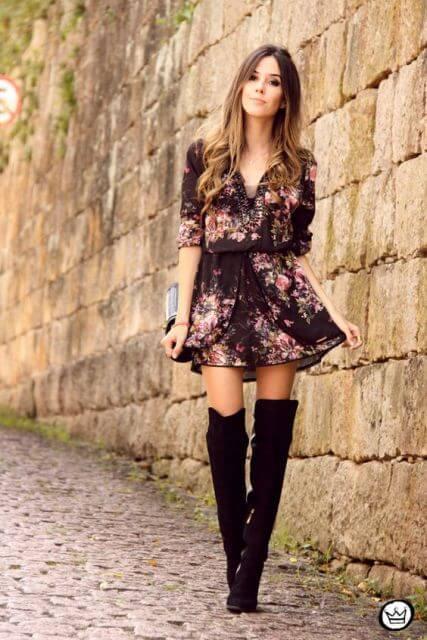 vestido com bota 3 Como usar Vestido com BOTA: cano curto ou longo