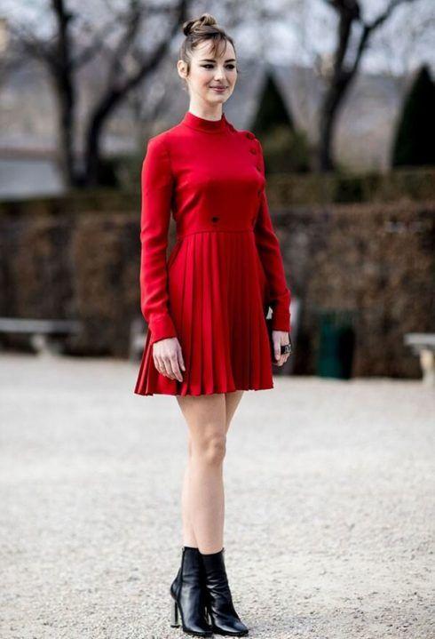 vestido com bota 7 490x719 Como usar Vestido com BOTA: cano curto ou longo