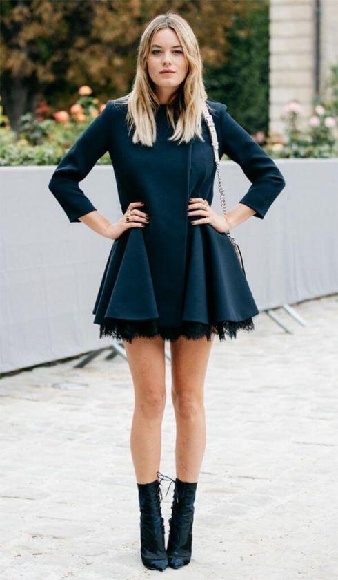 vestido com bota 8 490x839 Como usar Vestido com BOTA: cano curto ou longo