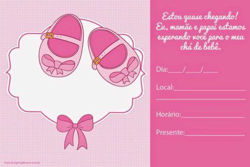 convites para cha de bebe 3 490x327 20 Convites para chá de fraldas ou bebê para Imprimir editáveis