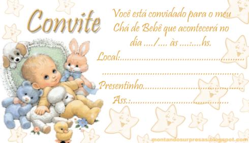 imagem 19 490x282 20 Convites para chá de fraldas ou bebê para Imprimir editáveis