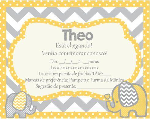 imagem 20 5 490x390 20 Convites para chá de fraldas ou bebê para Imprimir editáveis