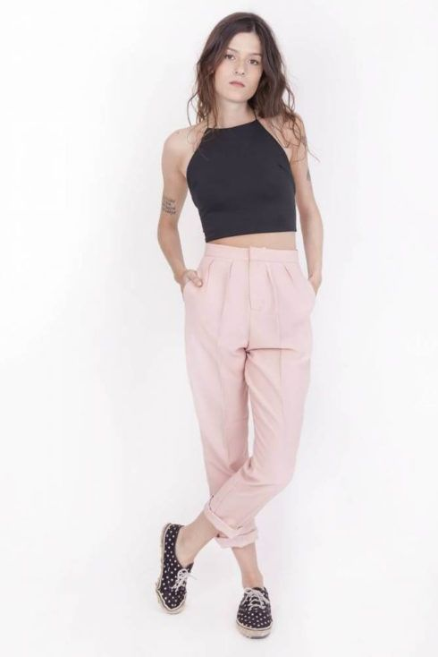 imagem 4 490x734 Calça CINTURA Alta Feminina Modelitos da moda