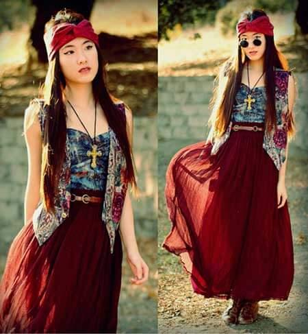 moda hippie feminina 4 Moda HIPPIE feminina Estilo Único e descolado de viver