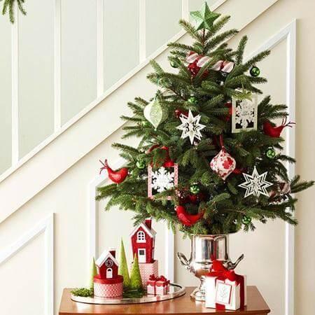 arvores de natal pequenas 2 Arvores de NATAL decoradas para o seu lar