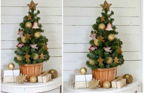 arvores de natal pequenas 5 490x317 Arvores de NATAL decoradas para o seu lar