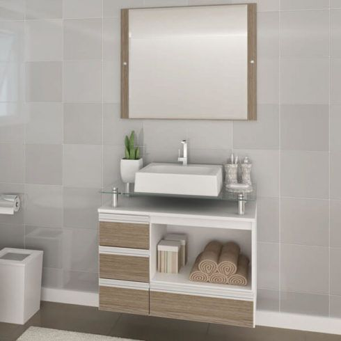 banheiro com gabinete simples 2 490x490 BANHEIRO SIMPLES acabamentos que deixam o banheiro moderno